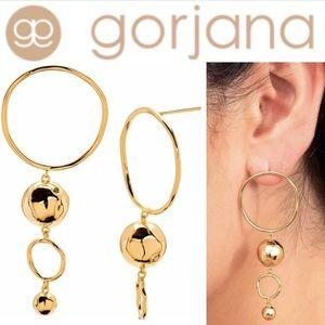 Gorjana Makena Gold Tiered Hoop Drop Metallic